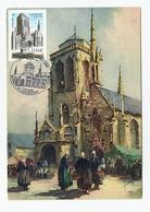 Carte Maximum LOCRONAN -  L'église( Rare) - 2000-09