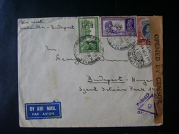 INDIA - LETTER FROM CALCUTTA TO HUNGARY OPENED BY CENSOR IN THE STATE - India (...-1947)