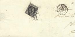 18 Janver 1849 - Demi-lettre De NIORT ( Deux Sèvres )  Affr. N°3 ( 4 Marges )  Oblit. Grille  - - Postmark Collection (Covers)