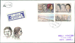 Israel FDC 1991, Frauen (II), Rahel Yanait Ben-Zvi, Dona Gracia Nasi, Michel 1208 - 1209 (3-48) - FDC