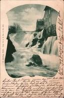 ! Alte Ansichtskarte Ronneby Vattenfallet, Waterfall, Wasserfall, Schweden, 1901, Schiffspost Trelleborg Sassnitz - Suède