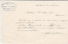 VIEUX PAPIER--84---MALAUCENE-1918--ALBERT GRANIER--nouveautés Et Confections- -( Memorandum )-voir  Scan - France