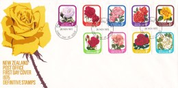 New Zealand 1975 Definitive - Roses FDC - FDC