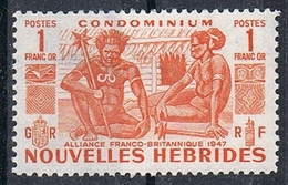 NOUVELLES-HEBRIDES N°152 N* - Leyenda Francesa
