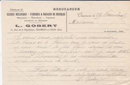 VIEUX PAPIER---60---CHAUMONT EN VEXIN--1917--L. GOBERT--scierie Mécanique-fabrique De Meubles -( Memorandum )-voir  Scan - France