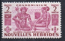 NOUVELLES-HEBRIDES N°153 N* - Leyenda Francesa