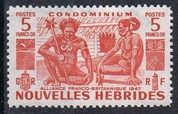 NOUVELLES-HEBRIDES N°154 N* - Leyenda Francesa
