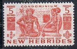 NOUVELLES-HEBRIDES N°165 N* - English Legend