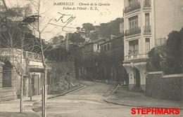 CPA 13 : MARSEILLE - CHEMIN DE LA CORNICHE - VALLON DE L'ORIOL - VOIR VERSO TAMPON - édition EL - Endoume, Roucas, Corniche, Beaches