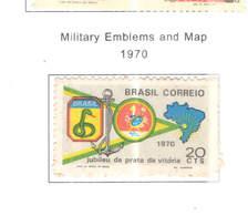 Brasile PO1970 Map E Stemma Militare Scott.1172+See Scan On Scott.Page - Brasile
