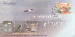 India  2007  Cranes  Birds  Nandur Bird Sanctuary  Special Cover   #  10841   D  Inde Indien - Cranes And Other Gruiformes
