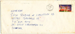 Nigeria Cover Sent To Denmark Single Franked Barcelona 92 Olympic Stamp - Nigeria (1961-...)