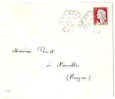4560 GRAMONT Aveyron Lettre 25c Decaris Yv 1263 Ob 1961 Agence Postale Lautier F7 - Manual Postmarks
