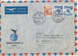 Switzerland Air Mail Cover Sent To USA Zürich 20-10-1947 - Switzerland