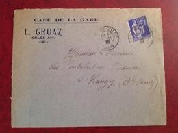 Culoz Café De La Gare Gruaz - Marcophilie (Lettres)