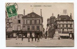 CPA 52 : LANGRES  Place Diderot Animée     A   VOIR  !!! - Langres