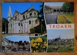 14 - Troarn - Eglise - Ecole - Vue Générale ... CPM Multivue / Multivues / Multi Vues - (n°12689) - Autres Communes