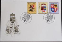 LITAUEN 1999 Mi-Nr. 709/11 FDC - Lithuania