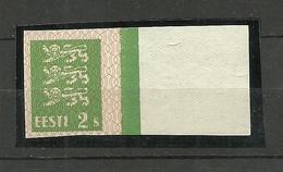 ESTLAND Estonia 1928 Michel 75 Probedruck  Thin Paper Type Official Proof Essay MNH Nice Margin - Estonia