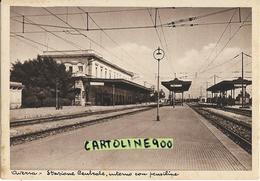 Campania- Aversa Stazione Ferroviaria Centrale Veduta Interno Stazione Binari Pensiline Anni 40/50 - Aversa