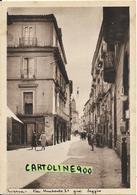 Campania-aversa Via Umberto I Gia Seggio Veduta Animata Anni 40/50 - Aversa