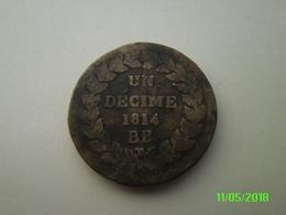 Un Décime 1814 BB - France
