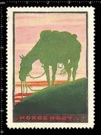Old German Poster Stamp, Cinderella, Reklamemarke, Vignette, World War One Propaganda, Artist Alexander M. CAY, Horse - WW1