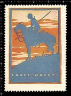 German Poster Stamp, Cinderella, Reklamemarke, Vignette, World War One Propaganda, Artist Alexander M. CAY, Patrol - WW1