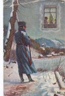 Bonne Année -- Souvenir De L'Occupation Des Frontières -- Carte De Suisse - Nouvel An