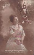 Le Rêve -- Une Missive?.......par La Même Voie -- Jeune Fille Pensant à Son Soldat - Femmes