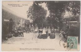 CARTE POSTALE   FRANCONVILLE 95  La Gare.Maison Poulain-Guinet,jardin Vue Intérieure - Franconville