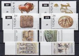 Venda 1982, 1983  MiNr. 58/ 61 + 74/ 77   **/ Mnh ; Geschichte Der Schrift I., II. - Venda