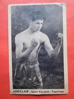"""Boxeur Vers 1910 Adriclair """"Sport Veredelt"""" Poperinge & Autographe - Boxe"""