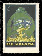 German Poster Stamp Cinderella Reklamemarke World War One Propaganda Artist Alexander M. CAY  English Juggernaut - WW1