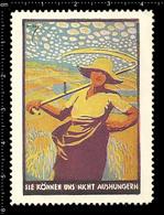 German Poster Stamp, Cinderella, Reklamemarke, Vignette, World War One Propaganda, Artist Alexander M. CAY, Harvester - WW1