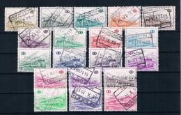 Belgien 1968 Eisenbahn Paketmarken Mi.Nr. 325/43 Kpl. Satz Gestempelt - Bahnwesen