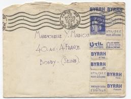 1938-BYRRH -PARIS -RECTO/VERSO-Z1 - Marcophilie (Lettres)