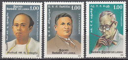 SRI LANKA    SCOTT NO. 965-67   MNH    YEAR  1990 - Sri Lanka (Ceylon) (1948-...)