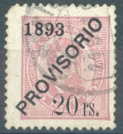 PORTUGAL  - 1893  -  USED/OBLIT. - CARLOS I PROVISORIO 1893 -  Mi 93 Yv 93  - Lot 16667 - 2nd CHOICE - 1892-1898 : D.Carlos I