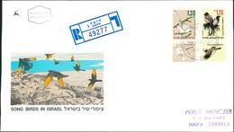 Israel FDC 1993, Freimarken: Singvögel, Song Birds, Oiseaux, Michel 1280 - 1281 (3-89) - FDC