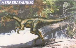 ARGENTINA - Dinosaurs, Herrerasaurus F080B GEM1B (Not Symmetric White/Gold), 09/97, Tirage 100.000, Used - Argentinien