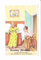 Bonne Année, Gelukkiy Neuvjaar, Homme Ivre, Matronne En Bigoudis, Chambre à Coucher, Ed. ? 1960 Environ - Nouvel An
