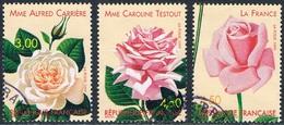 France - Congrès Mondial De Roses Anciennes à Lyon 3248/3250 Oblit. - Roses