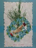 Ajoutis Mains Fleurs Envoi Du Coeur - Other