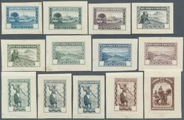 "12385 Ruanda-Urundi: 1931, ""traditional Scenes"" Definitives, Lot With 26 Imperforated Color Proofs, Each S - Ruanda-Urundi"