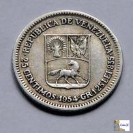 Venezuela - 25 Céntimos - 1954 - Venezuela