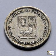 Venezuela - 50 Céntimos - 1954 - Venezuela