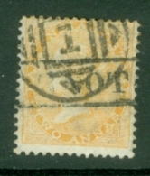 India: 1865   QV    SG61    2a     Yellow     Used - India (...-1947)