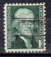 USA Precancel Vorausentwertung Preo, Locals Pennsylvania, Pittsfield 841 - Vereinigte Staaten