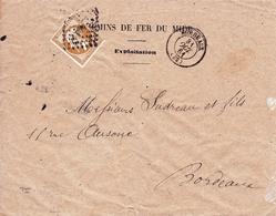 Lettre 1861 Bordeaux Gironde Chemins De Fer Du Midi Exploitation Napoléon III 10c - 1849-1876: Classic Period